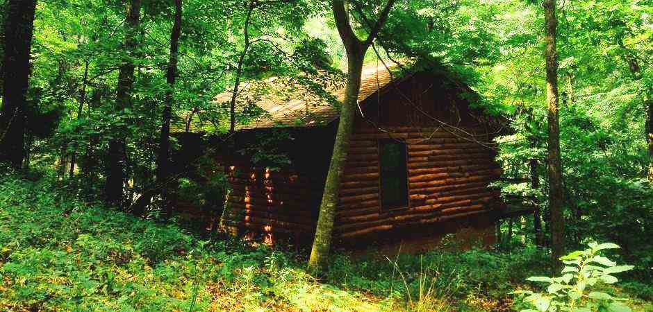 Incroyable Cabins In Eureka Springs   Secluded Natureu0027s Heart Log Cabin