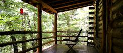 Back Porch Swing at the Nature's Heart Cabin in Eureka Springs