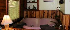 Jacuzzi Suite rivals any hotel in Eureka Springs, AR